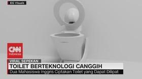 VIDEO: Toilet Gaya Baru, Toilet Yang Bisa Dilipat