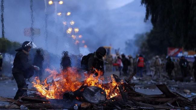 rganisasi Negara-negara Amerika melakukan audit pemilihan dan mereka menyatakan menemukan penyimpangan dalam pemilu Bolivia. (AP Photo/Juan Karita).