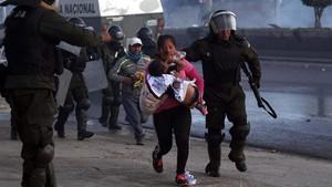 FOTO : Bolivia Masih Membara