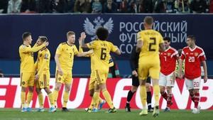 Kualifikasi Piala Eropa: Hazard Dua Gol, Belgia Bungkam Rusia