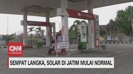 VIDEO: Sempat Langka, Solar di Jatim Mulai Normal