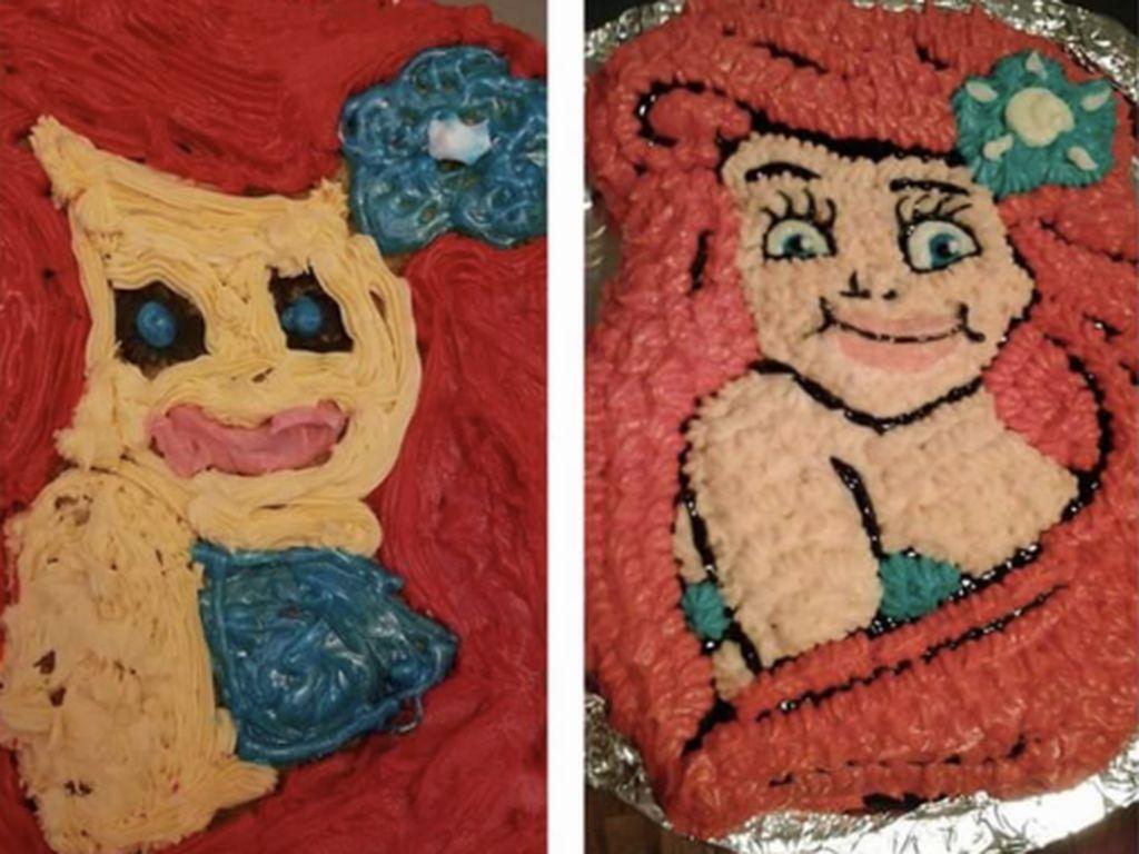 Bikin Ngakak, 10 Kue Ultah Bertema Disney yang Tak Sesuai Ekspektasi