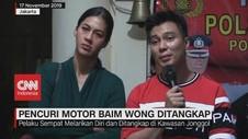 VIDEO: Mantan Satpam Pencuri Motor Baim Wong Ditangkap