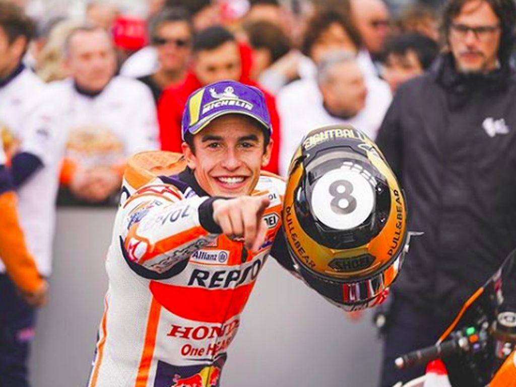 Marquez menutup musim balap 2019 dengan kemenangan. Dia mennjadi pemenang di MotoGP Valencia. (Foto: dok.Repsol Honda)