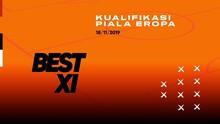 INFOGRAFIS: Best XI Kualifikasi Piala Eropa 2020 Pekan Ini