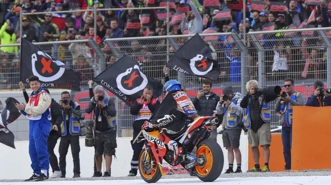 Balapan MotoGP Valencia jadi balapan terakhir Jorge Lorenzo karena ia sudah memutuskan pensiun.(Photo by JOSE JORDAN / AFP)