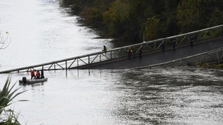 Jembatan Gantung di Prancis Ambruk, Dua Orang Tewas