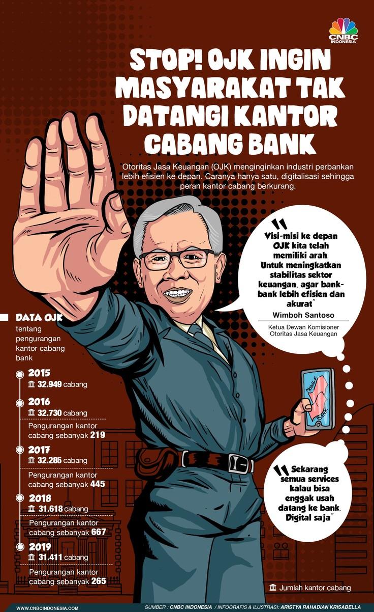 Alasan OJK Tak Ingin Masyarakat Datangi Kantor Cabang Bank