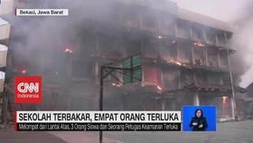 VIDEO: SMK Yadika 6 Bekasi Terbakar Hebat, 4 Orang Terluka