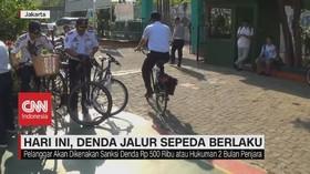 VIDEO: Denda Jalur Sepeda DKI Jakarta Berlaku Hari Ini