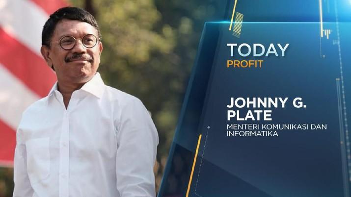 Menteri Komunikasi dan Informatika Kabinet Indonesia Maju 2019-2024, Johnny G. Plate berbicara soal targetnya 5 tahun ke depan