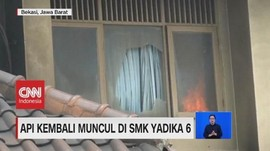 VIDEO: Api Kembali Menyala di SMK Yadika 6 Pasca-Kebakaran