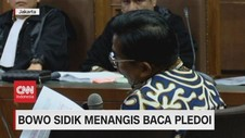 VIDEO: Bowo Sidik Menagis Baca Pledoi