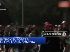 Lagi, Kerusuhan Suporter Warnai Laga Indonesia vs Malaysia