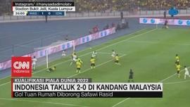 VIDEO: Timnas Indonesia Takluk 0-2 di Kandang Malaysia
