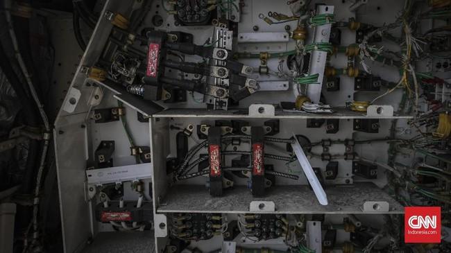 Selain disebutkan bakal dikirim ke luar negeri untuk melengkapi restoran, bagian-bagian pesawat itu pun akan ada yang didaur ulang kembali. (CNN Indonesia/Bisma Septalisma)