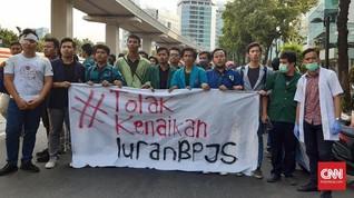 Massa BEM SI Demo Menkes Protes Kenaikan BPJS Kesehatan