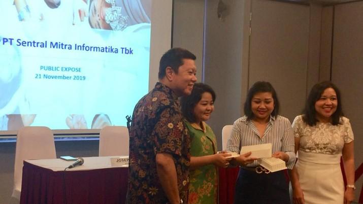 Public Expose Insidentil PT Sentral Mitra Informatika Tbk (LUCK), Kamis 21 November 2019, BEI. (Syahrizal Sidik/CNBC Indonesia)