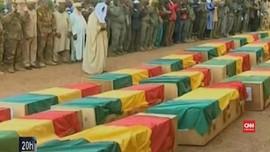 VIDEO: Upacara Pemakaman 30 Tentara Mali yang Dibunuh Teroris