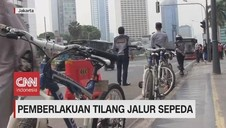 VIDEO: Pemberlakuan Tilang Jalur Sepeda