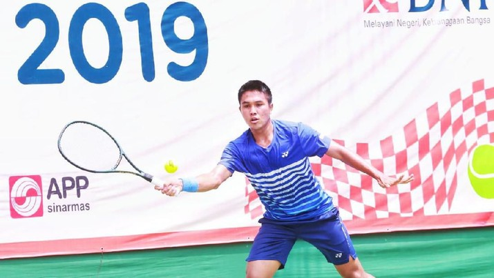 Tekuk David, Rifqi Fitriadi Masuk Final BNI Tennis Open 2019