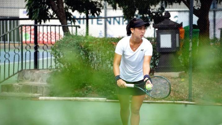 Aksi Aldila yang Masuk ke Final BNI Tennis Open 2019