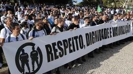 Ribuan Polisi Portugal Demo Tuntut Naik Gaji
