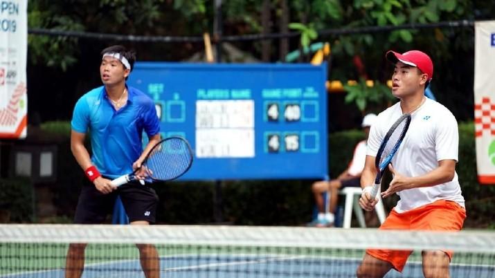 Aksi Ganda Putra David & Anton di Final BNI Tennis Open 2019