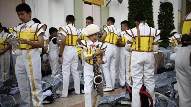 Paus Fransiskus menyinggung soal masalah perdagangan manusia karena Thailand adalah salah satu negara persinggahan korban tindak pidana itu. (Photo by Mohd RASFAN / AFP)