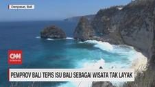 VIDEO: Pemprov Bali Tepis Isu Bali Sebagai Wisata Tak Layak