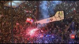 VIDEO: Ribuan Pedemo Rayakan 76 Tahun Kemerdekaan Libanon