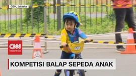 VIDEO: Lucunya Anak-anak Ikuti Kompetisi Balap Sepeda