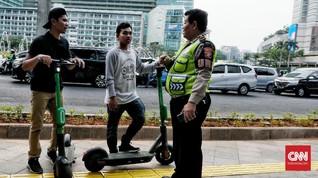 Pergub Izinkan Skuter di Jalur Sepeda, Polisi Tetap Melarang
