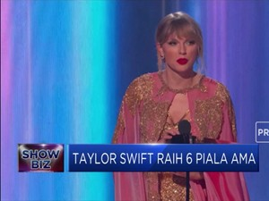 Wah Taylor Swift Raih 6 Piala America Music Awards