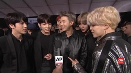 VIDEO: BTS Sabet Tiga Piala American Music Awards 2019