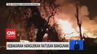 VIDEO: Kebakaran di Kotabaru Kalsel Hanguskan Ratusan Rumah
