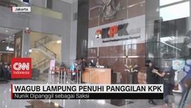 VIDEO: Wagub Lampung Diperiksa KPK Soal Suap PUPR