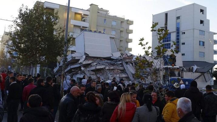 Gempa Terkuat Sepanjang Sejarah Guncang Albania