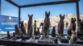Tim peneliti menemukan mumi hewan-hewan yang tak biasa. Temuan baru tim arkeologi Mesir ini dipamerkan di Saqqara necropolis Giza, Kairo, November 2019. (Photo by Khaled DESOUKI / AFP)