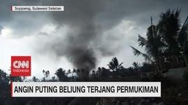 VIDEO: Angin Puting Beliung Terjang Permukiman Warga