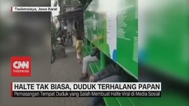 VIDEO: Halte Tak Biasa, Duduk Terhalang Papan