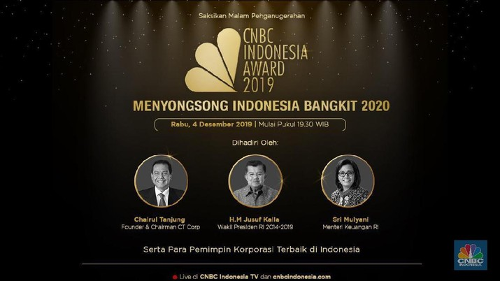CNBC Indonesia menggelar CNBC Indonesia Awards 2019
