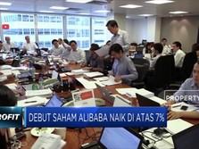 Debut Saham Alibaba Naik di Atas 7%
