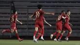 Kemenangan 2-0 atas Thailand jadi awal yang bagus bagi Indonesia di ajang SEA Games 2019. (AP Photo/Aaron Favila)
