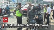 VIDEO: Tilang Jalur Sepeda Diwarnai Protes