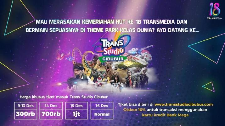 Gemerlap HUT 18 Transmedia Bertabur Bintang di Trans Studio