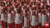 Para atlet Indonesia diminta Menpora RI Zainudin Amali fokus di SEA Games 2019. (CNN Indonesia/Bisma Septalisma)