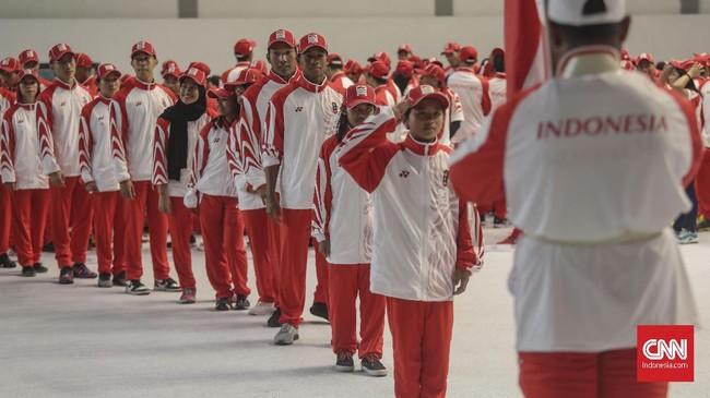 Total 841 atlet Indonesia bakal berlaga di ajang SEA Games 2019. (CNN Indonesia/Bisma Septalisma)