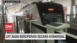 VIDEO: LRT Akan Beroperasi Komersial Mulai 1 Desember 2019