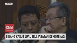 VIDEO: Sidang Kasus Jual Beli Jabatan di Kemenag